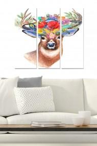 Tablou decorativ (set 3 piese) Bianca 553BNC1717 multicolor