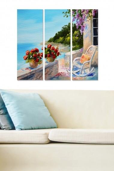 Tablou decorativ (set 3 piese) Bianca 553BNC1730 multicolor