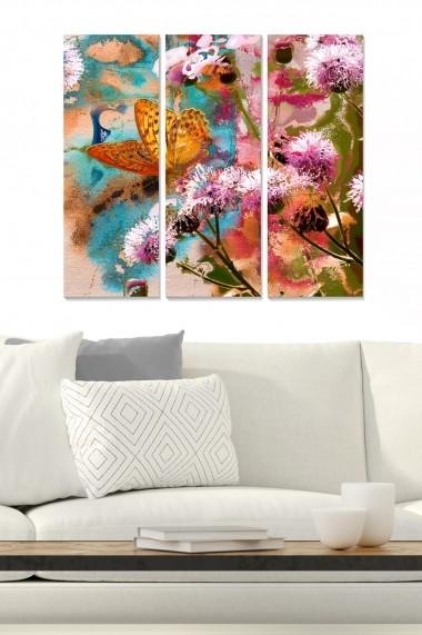 Tablou decorativ (set 3 piese) Bianca 553BNC1748 multicolor