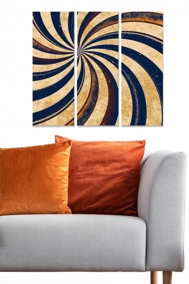 Tablou decorativ (set 3 piese) Bianca 553BNC1750 multicolor