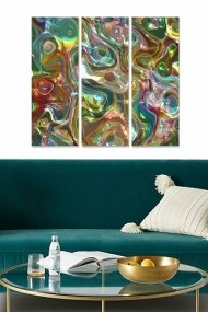 Tablou decorativ (set 3 piese) Bianca 553BNC1752 multicolor