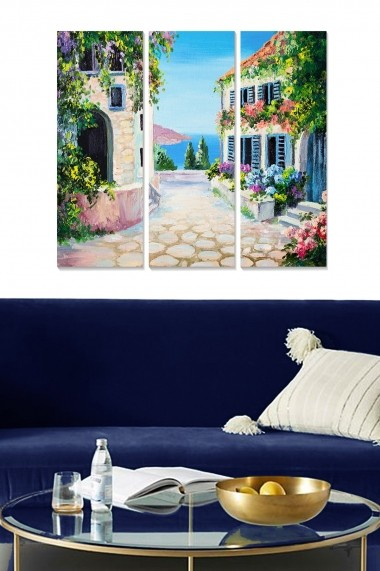 Tablou decorativ (set 3 piese) Bianca 553BNC1756 multicolor