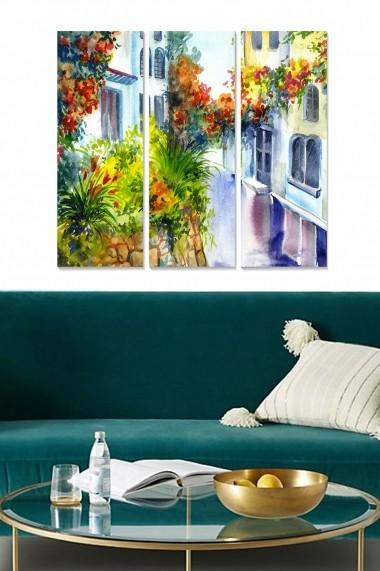 Tablou decorativ (set 3 piese) Bianca 553BNC1758 multicolor