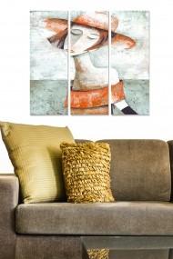 Tablou decorativ (set 3 piese) Bianca 553BNC1771 multicolor