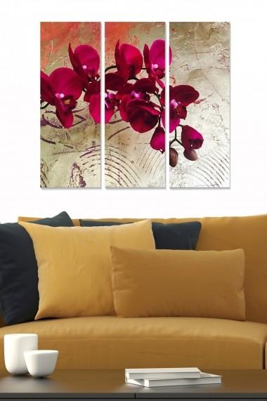 Tablou decorativ (set 3 piese) Bianca 553BNC1779 multicolor