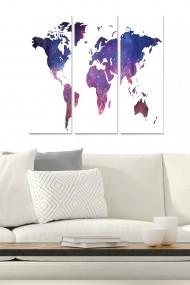 Tablou decorativ (set 3 piese) Bianca 553BNC1785 multicolor