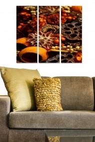 Tablou decorativ (set 3 piese) Bianca 553BNC1802 multicolor