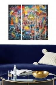 Tablou decorativ (set 3 piese) Bianca 553BNC1806 multicolor