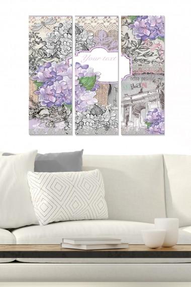 Tablou decorativ (set 3 piese) Bianca 553BNC1809 multicolor