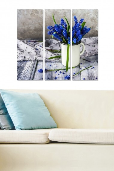 Tablou decorativ (set 3 piese) Bianca 553BNC1815 multicolor