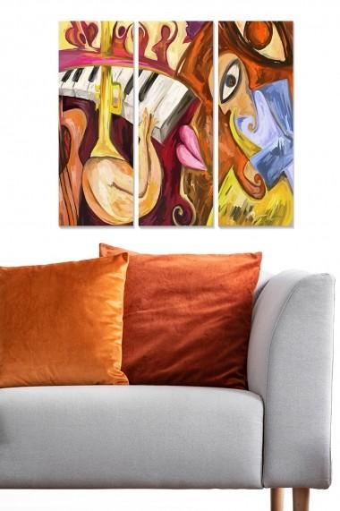 Tablou decorativ (set 3 piese) Bianca 553BNC1829 multicolor