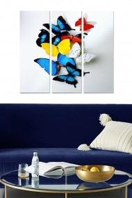 Tablou decorativ (set 3 piese) Bianca 553BNC1832 multicolor