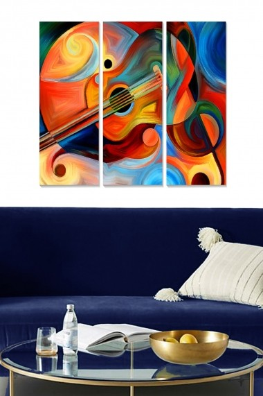 Tablou decorativ (set 3 piese) Bianca 553BNC1849 multicolor