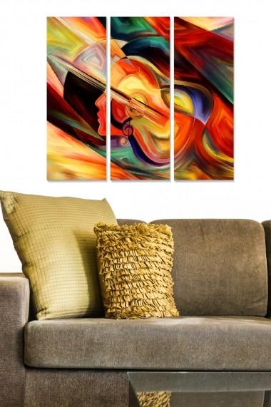 Tablou decorativ (set 3 piese) Bianca 553BNC1850 multicolor