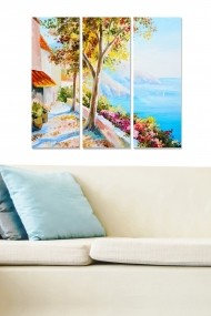 Tablou decorativ (set 3 piese) Bianca 553BNC1856 multicolor