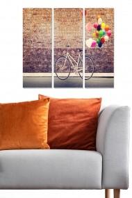 Tablou decorativ (set 3 piese) Bianca 553BNC1864 multicolor