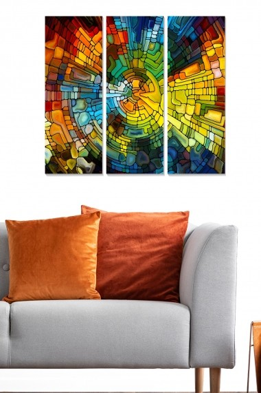 Tablou decorativ (set 3 piese) Bianca 553BNC1868 multicolor