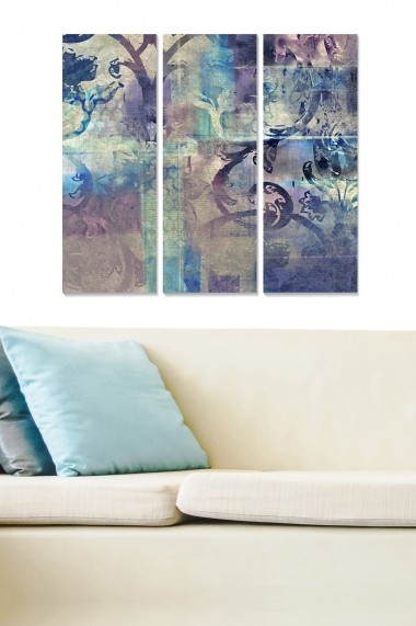 Tablou decorativ (set 3 piese) Bianca 553BNC1872 multicolor