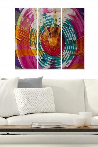Tablou decorativ (set 3 piese) Bianca 553BNC1874 multicolor
