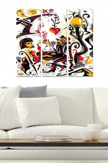 Tablou decorativ (set 3 piese) Bianca 553BNC1917 multicolor
