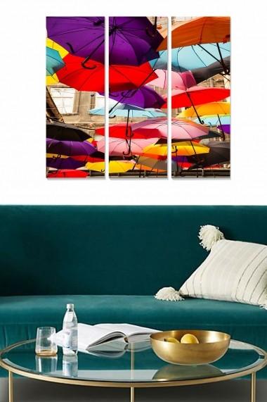 Tablou decorativ (set 3 piese) Bianca 553BNC1938 multicolor