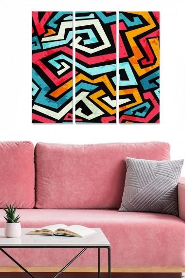 Tablou decorativ (set 3 piese) Bianca 553BNC1945 multicolor