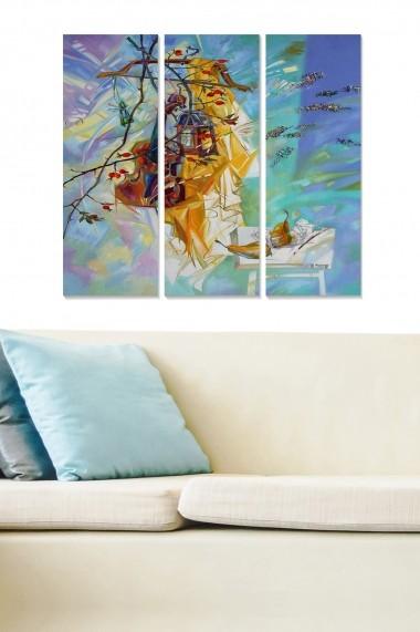 Tablou decorativ (set 3 piese) Bianca 553BNC1961 multicolor