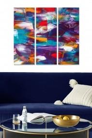 Tablou decorativ (set 3 piese) Bianca 553BNC2105 multicolor