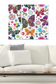 Tablou decorativ (set 3 piese) Bianca 553BNC2107 multicolor