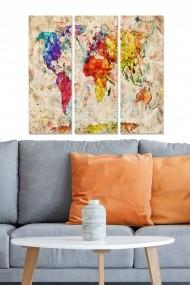 Tablou decorativ (set 3 piese) Bianca 553BNC2115 multicolor