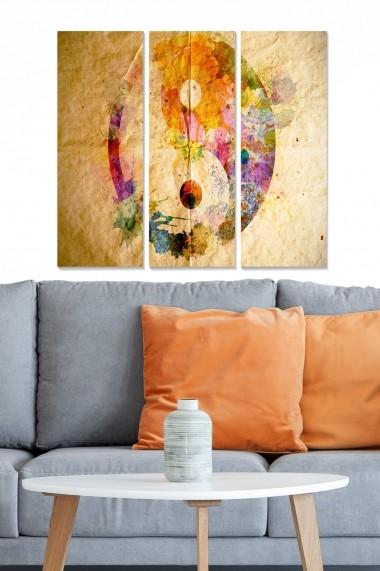 Tablou decorativ (set 3 piese) Bianca 553BNC2118 multicolor