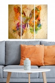 Tablou decorativ (set 3 piese) Bianca 553BNC2120 multicolor