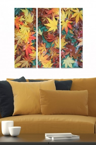 Tablou decorativ (set 3 piese) Bianca 553BNC2140 multicolor