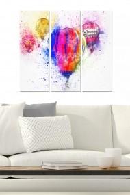 Tablou decorativ (set 3 piese) Bianca 553BNC2141 multicolor