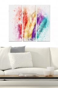 Tablou decorativ (set 3 piese) Bianca 553BNC2145 multicolor