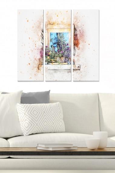 Tablou decorativ (set 3 piese) Bianca 553BNC2151 multicolor