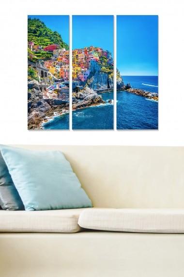 Tablou decorativ (set 3 piese) Bianca 553BNC2158 multicolor