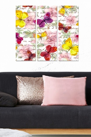 Tablou decorativ (set 3 piese) Bianca 553BNC2166 multicolor
