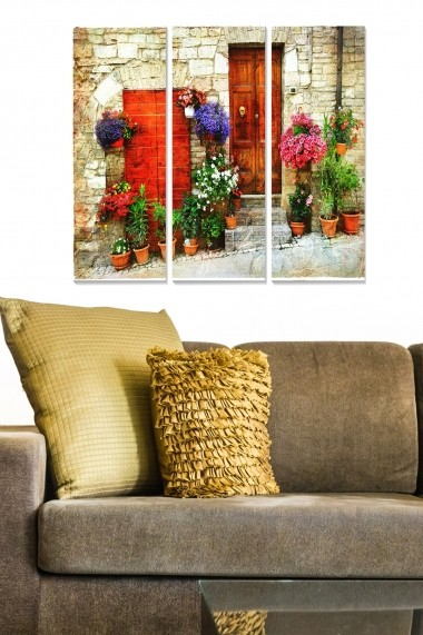 Tablou decorativ (set 3 piese) Bianca 553BNC2184 multicolor