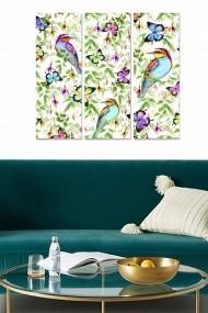 Tablou decorativ (set 3 piese) Bianca 553BNC2187 multicolor