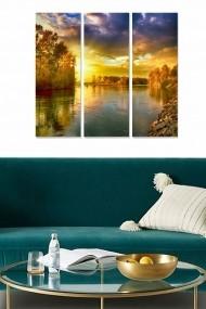 Tablou decorativ (set 3 piese) Bianca 553BNC2193 multicolor