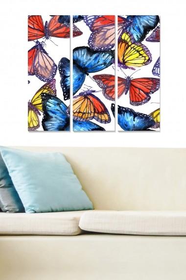 Tablou decorativ (set 3 piese) Bianca 553BNC2198 multicolor