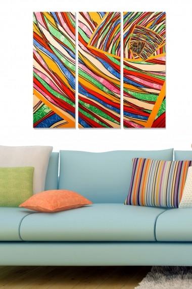 Tablou decorativ (set 3 piese) Bianca 553BNC2214 multicolor
