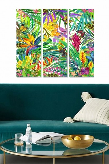 Tablou decorativ (set 3 piese) Bianca 553BNC2233 multicolor