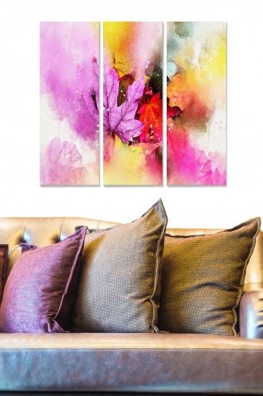 Tablou decorativ (set 3 piese) Bianca 553BNC2237 multicolor