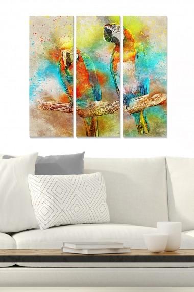 Tablou decorativ (set 3 piese) Bianca 553BNC2244 multicolor