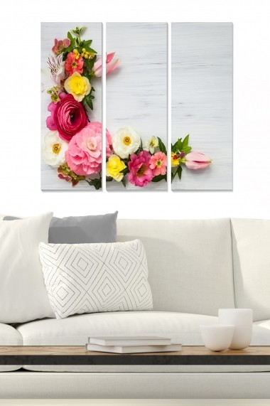 Tablou decorativ (set 3 piese) Bianca 553BNC2245 multicolor