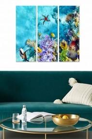 Tablou decorativ (set 3 piese) Bianca 553BNC2251 multicolor