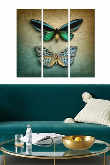 Tablou decorativ (set 3 piese) Bianca 553BNC2269 multicolor