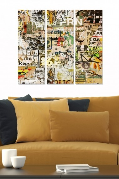 Tablou decorativ (set 3 piese) Bianca 553BNC2272 multicolor
